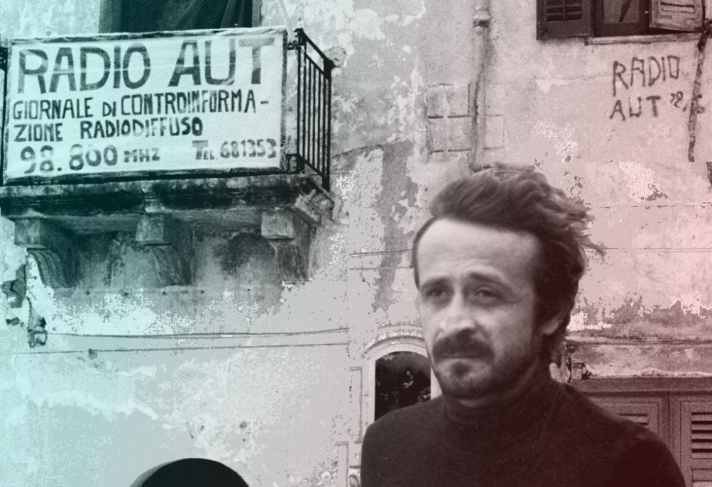 Peppino Impastato fondatore di Radio Aut e giornalista che denunciò la mafia a Cinisi
