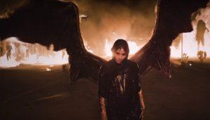 girl fire wings apocalypse