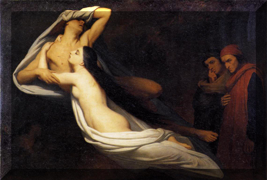 Paolo e Francesca Ary Scheffer letteratura arte